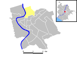 Carte des districts de