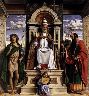 Cima da Conegliano, St. Peter Enthroned santi.jpg