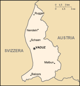 Liechtenstein - Carte
